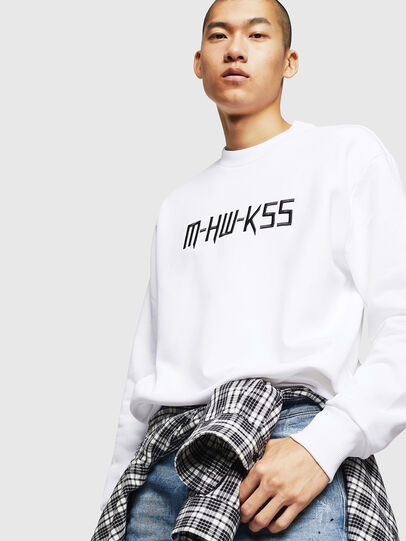 Diesel - S-LINK-MOHAWK, White - Sweatshirts - Image 4