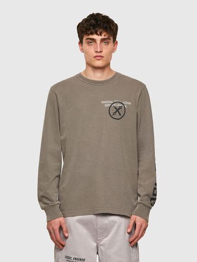 Diesel - T-JUBINDY-LS, Verde Oliva - Camisetas - Image 1