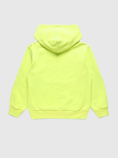 Diesel - SGIRKHOODCODE OVER, Green Fluo - Sweatshirts - Image 2