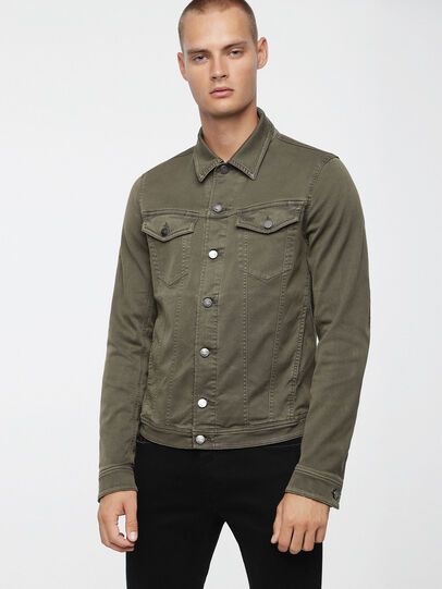 Diesel - ELSHAR JOGGJEANS, Military Green - Denim Jackets - Image 1