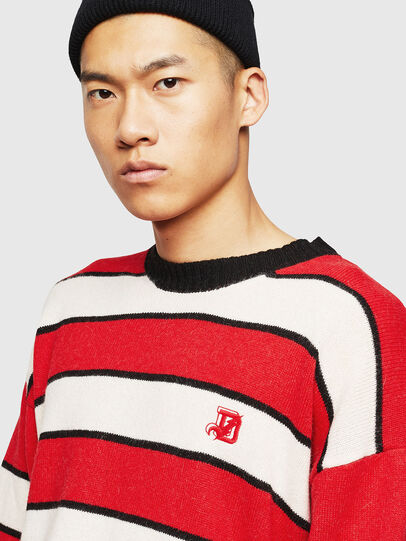 Diesel - K-LOVERY, Red/White - Sweaters - Image 3