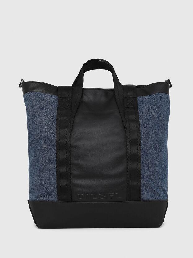SALZANO, Blue/Black - Shopping and Shoulder Bags