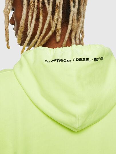 Diesel - S-ALBY-FLUO, Yellow Fluo - Sweatshirts - Image 6
