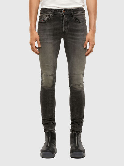 Diesel - Sleenker 009JF, Black/Dark Grey - Jeans - Image 1