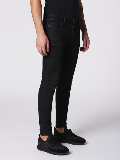 Diesel - Sleenker 084SB, Black/Dark Grey - Jeans - Image 3