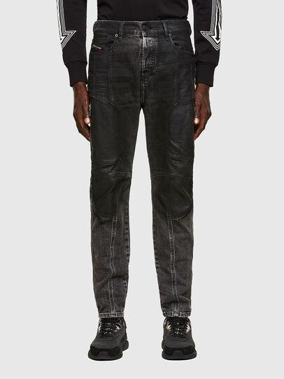Diesel - D-Vider Carrot Jeans 009QZ, Black/Dark Grey - Jeans - Image 1