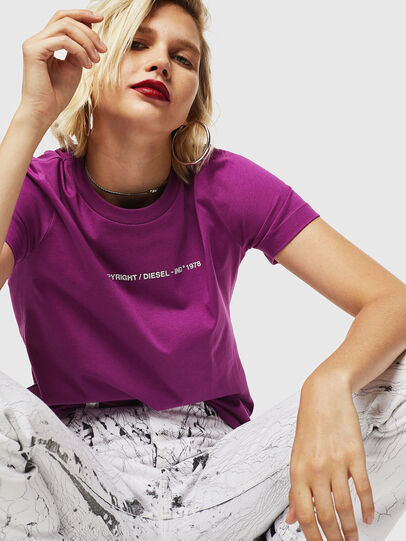 Diesel - T-SILY-COPY, Dark Violet - T-Shirts - Image 5