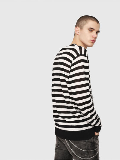 Diesel - K-MICROXX, Black/White - Sweaters - Image 3