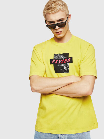 Diesel - T-JUST-Y18, Yellow - T-Shirts - Image 1