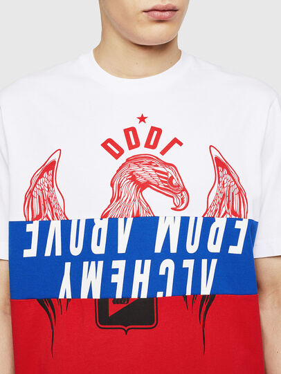Diesel - T-JUST-A1, White/Red/Blue - T-Shirts - Image 3