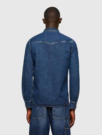 Diesel - D-EAST-P1, Blue - Denim Shirts - Image 2