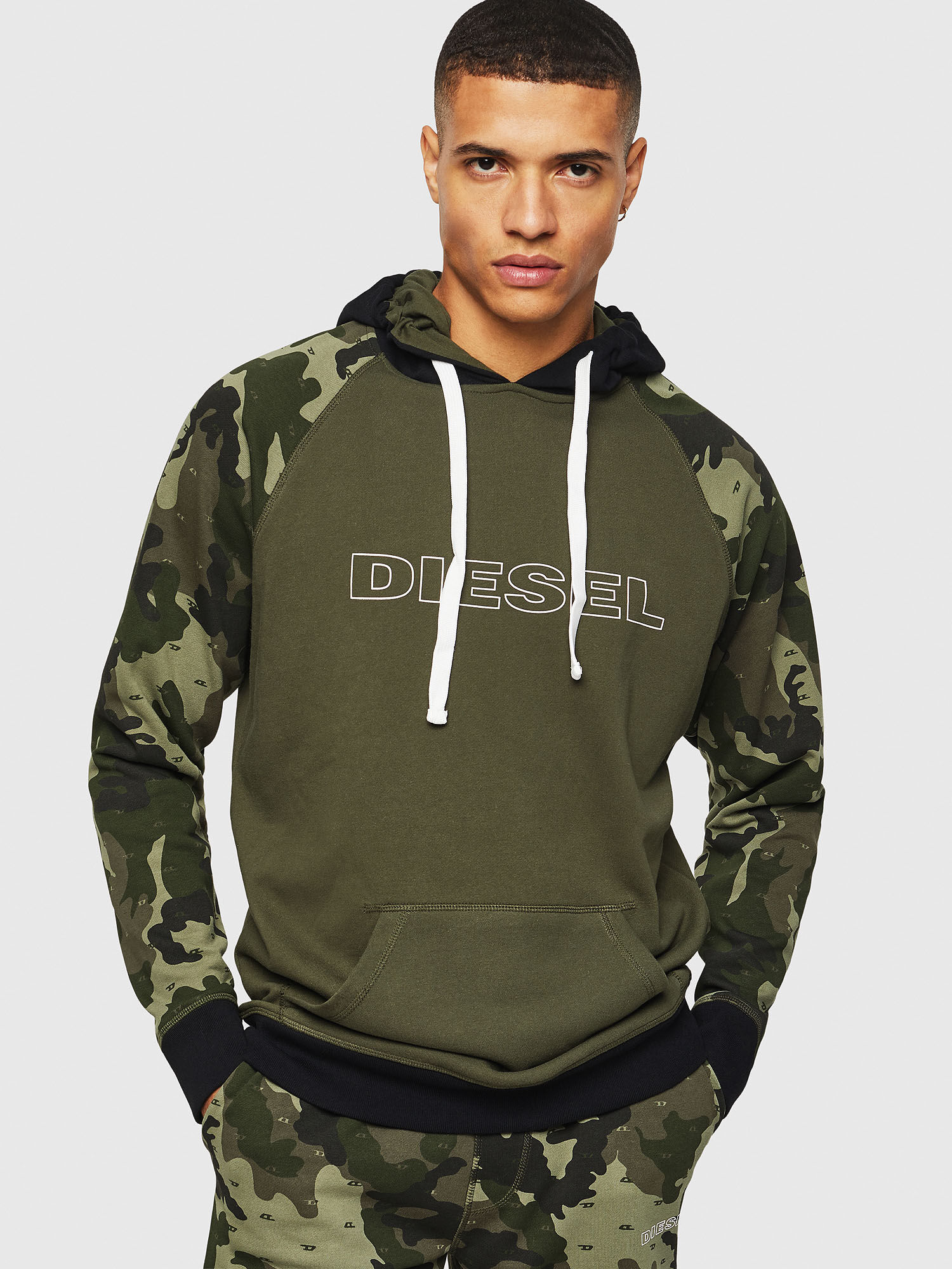Diesel Mens Umlt-Brian Hooded Sweat-Shirt