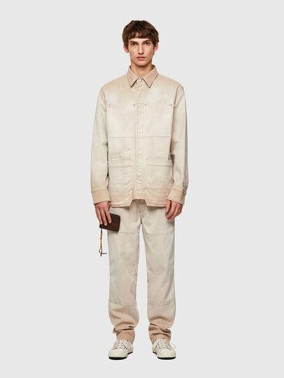 Diesel - D-CORUS-SP JOGGJEANS, Blanco - Camisas de Denim - Image 7