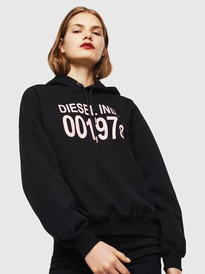 Diesel - F-ANG-HOOD-J1, Black - Sweatshirts - Image 1