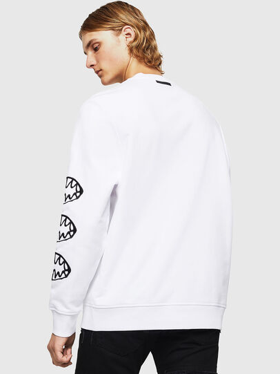 Diesel - SNEILB-X1, White - Sweatshirts - Image 2