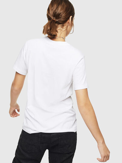 Diesel - T-SILY-ZD, White - T-Shirts - Image 2