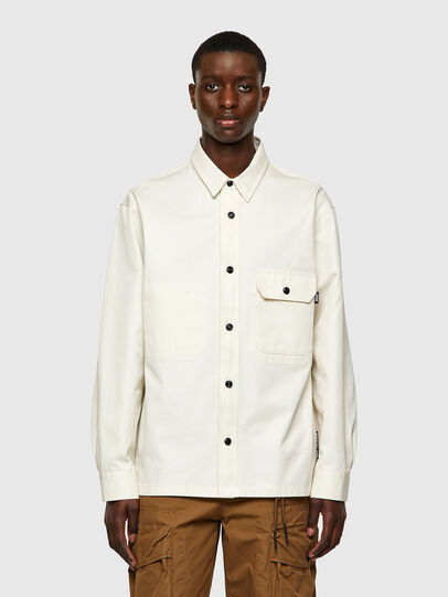 Diesel - S-BUNNELL-A, Blanco - Camisas - Image 1