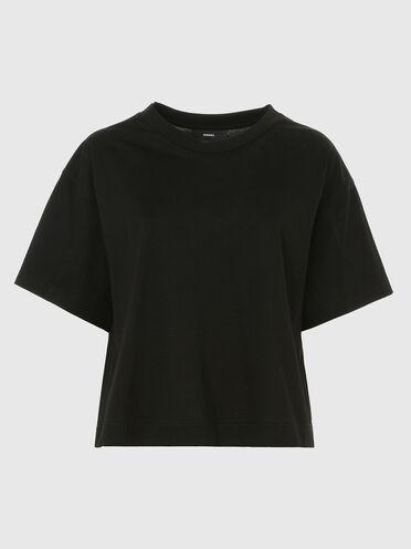 Boxy T-shirt in mercerised cotton
