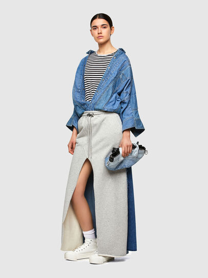 Diesel - O-LE, Grey/Blue - Skirts - Image 5