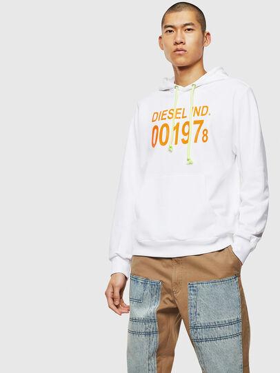 Diesel - S-GIRK-HOOD, White - Sweatshirts - Image 1