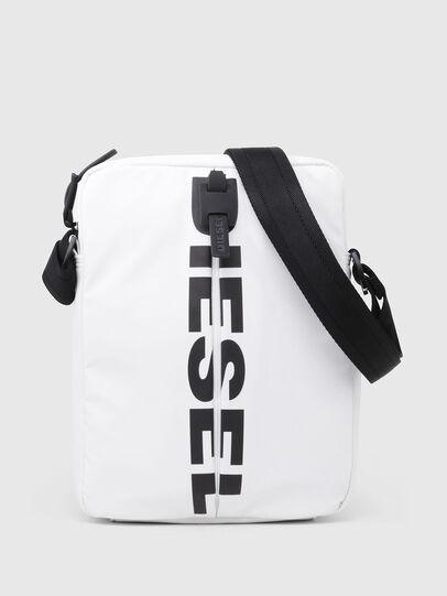 Diesel - F-BOLD SMALL CROSS, White - Crossbody Bags - Image 1