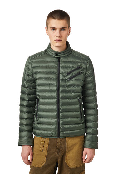 Biker jacket in quilted shell