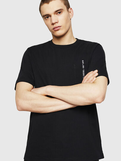 Diesel - T-JUST-POCKET-COPY, Black - T-Shirts - Image 4