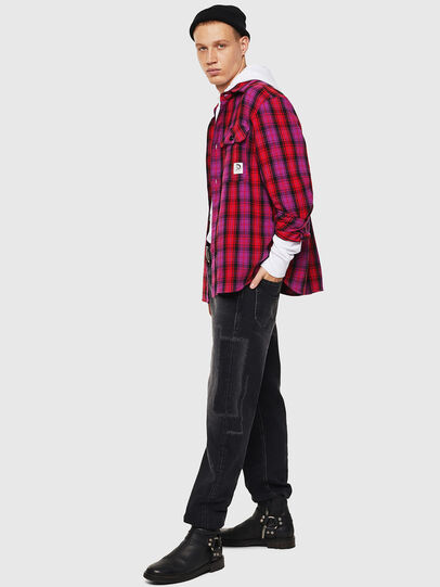Diesel - S-GERRY-CHECK, Pink - Shirts - Image 6