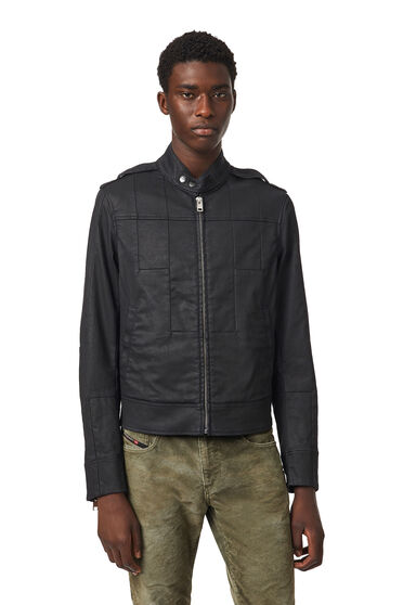 Moto jacket in coated JoggJeans®