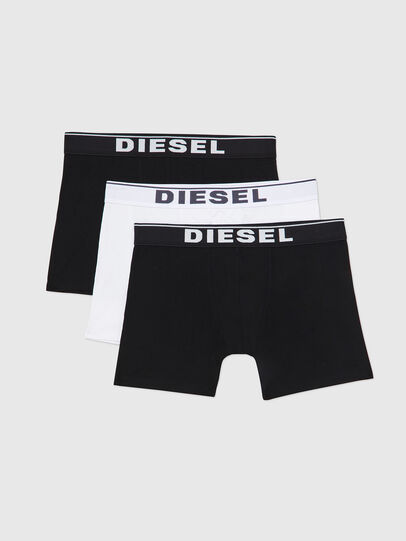 Diesel - UMBX-SEBASTIANTHREEP, Black/White - Boxer briefs - Image 1