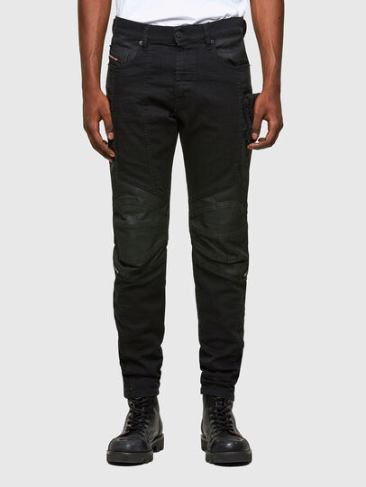 Diesel - D-Strukt Slim Jeans 069TH, Black/Dark Grey - Jeans - Image 1