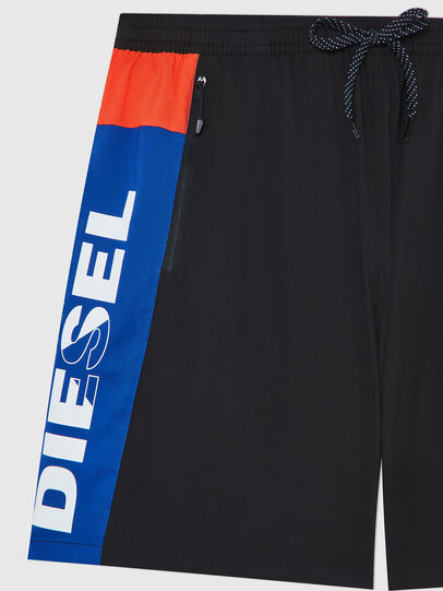 Diesel - BMBX-TUNADOO, Black/Blue - Swim shorts - Image 3