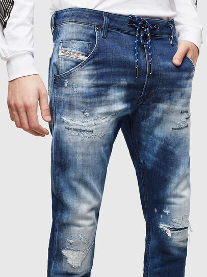 Diesel - Krooley JoggJeans 0099S, Dark Blue - Jeans - Image 3