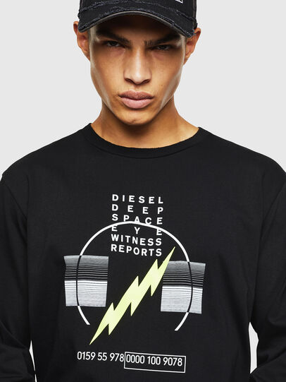 Diesel - T-JUST-LS-J3, Black - T-Shirts - Image 3