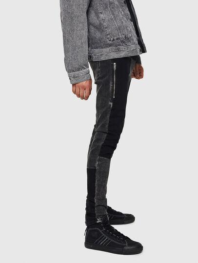 Diesel - D-Amny 0890T, Black/Dark Grey - Jeans - Image 4