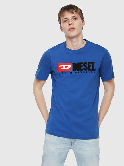 Diesel - T-JUST-DIVISION, Brilliant Blue - T-Shirts - Image 1