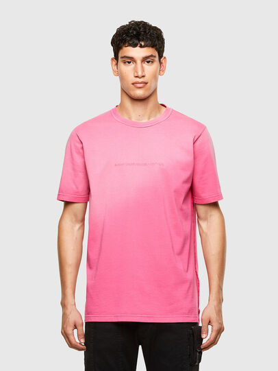 Diesel - T-JUBIND-SLITS-A1, Hot pink - T-Shirts - Image 1