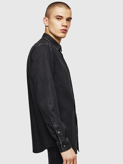 Diesel - D-BER-P, Black - Denim Shirts - Image 3