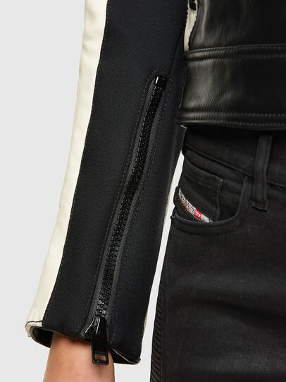Diesel - ASTARS-LQUATTRO-B, Black - Leather jackets - Image 4