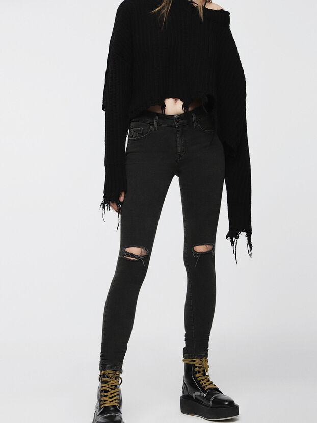 Slandy 069BW, Black/Dark Grey - Jeans