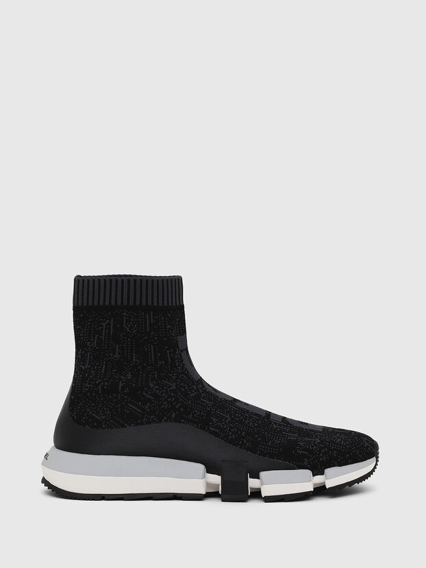 H-PADOLA MID SOCK, Black - Sneakers