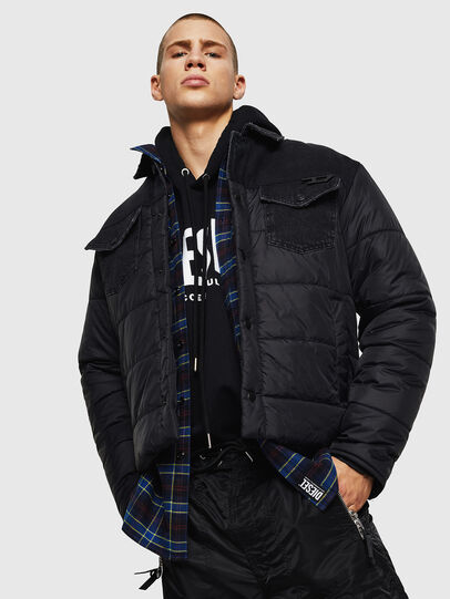 Diesel - D-SHYLA, Black - Winter Jackets - Image 4