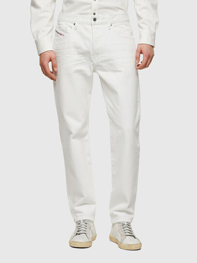 Diesel - D-Fining Tapered Jeans 0HBAJ, White - Jeans - Image 1