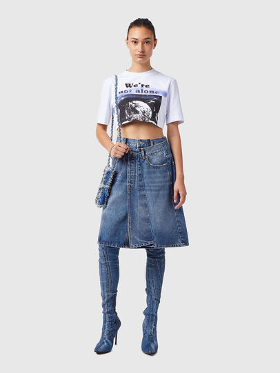 Diesel - DE-TOBY-SP, Medium Blue - Skirts - Image 4
