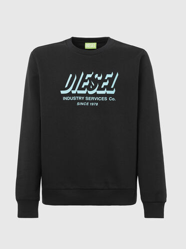 Green Label sweatshirt with printed logo