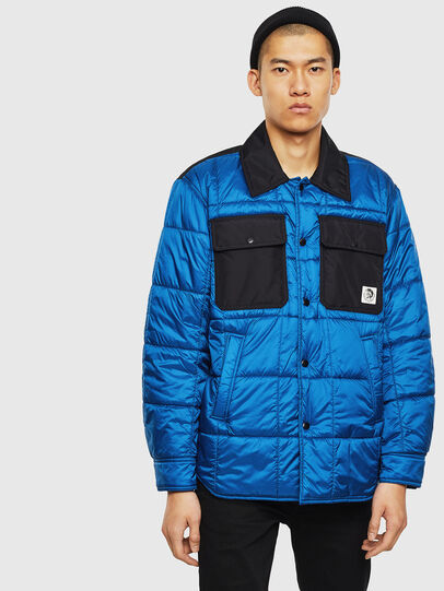 Diesel - J-WELLES, Blue Marine - Winter Jackets - Image 1