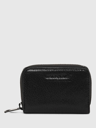 Diesel - JAPAROUND, Black/Orange - Zip-Round Wallets - Image 1