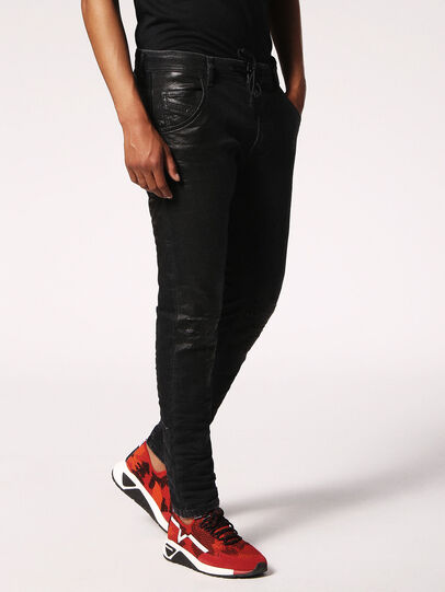 Diesel - Krooley JoggJeans 084JB, Black/Dark grey - Jeans - Image 3