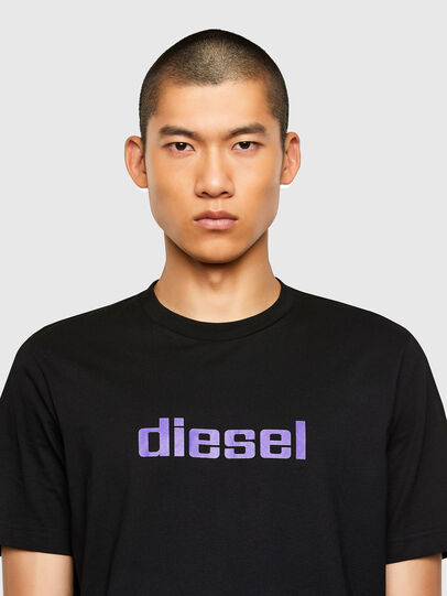 Diesel - T-JUST-N45, Black/Violet - T-Shirts - Image 3