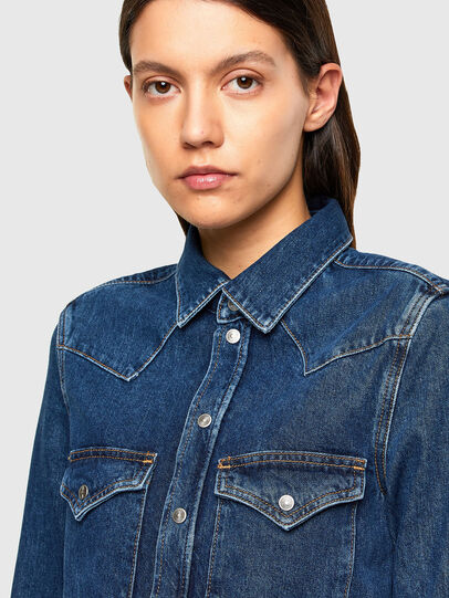 Diesel - DE-RINGY, Dark Blue - Denim Shirts - Image 3